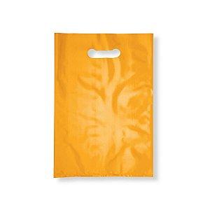 Sacola Plástica Boca de Palhaço 40x50cm 0,012mm Amarela com 1 kg, 40 Sacolinhas
