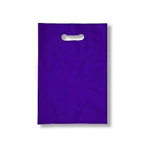 Sacola Plástica Boca de Palhaço 40x50cm 0,012mm Roxa com 1 kg, 40 Sacolinhas