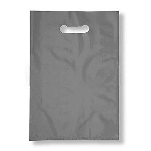Sacola Plástica Boca de Palhaço 20x30cm 0,012mm Prata com 1 kg, 135 Sacolinhas