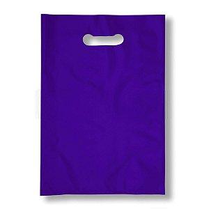 Sacola Plástica Boca de Palhaço 20x30cm 0,012mm Roxa com 1 kg, 135 Sacolinhas