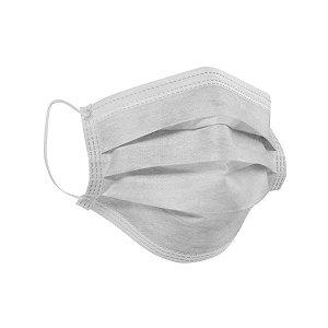 Máscara Cirúrgica Tripla Descartável Branca com 10 Máscaras