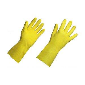 Luva de Látex Amarela Grande (G) para Limpeza SuperPro Bettanin