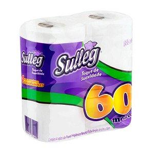 Papel Higiênico Folha Simples 4 Rolos com 60m Sulleg