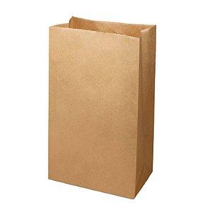 Saco de Papel Kraft SOS 27x37cm 15kg Liso para Delivery com 250 Embalagens