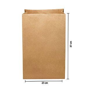 Saco de Papel Kraft SOS 23x37cm 15kg Liso para Delivery com 250 Embalagens