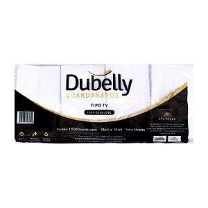 Guardanapo 14x14cm 100% Celulose Folha Simples Dubelly
