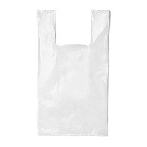Sacola Plástica 44x60cm Tradicional Branca com 1000 Sacolas Rioplastic
