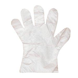 Luva Plástica Transparente Descartável Descarpack