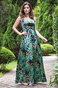 Vestido Longo Fernanda Preto