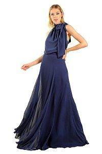 Vestido Longo Dandara Azul