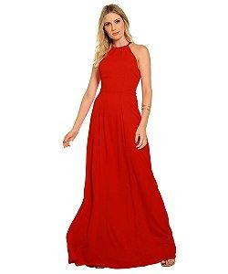 Vestido Longo Helena Vermelho