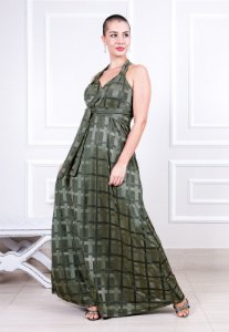 Vestido longo Decote Transpassado Verde