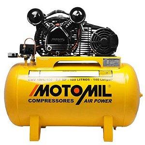 Compressor De Ar 10 Pés 100 Litros CMV-10PL/100 Motomil