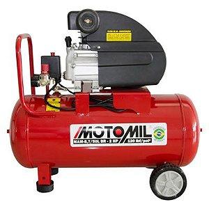 Compressor de Ar Portátil 2,0 HP 8,7 Pés 50 Litros 220V MOTOMIL