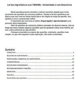 Lei dos agrotóxicos - Lei nº 7802/89