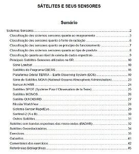 Sátelites e Sensores utilizados no Sensoriamento Remoto
