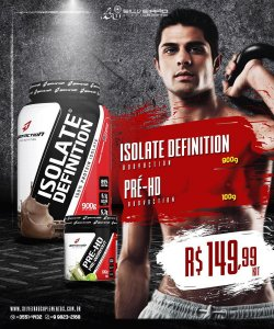 COMBO: Isolate Definition 900g + Pré-Treino 100g