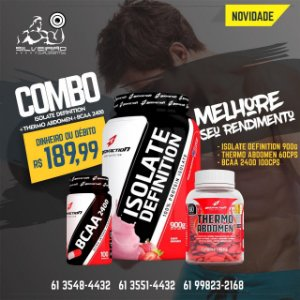 COMBO: Isolate Definition 900g + Thermo Abdomen 60cps + Bcaa 100cps