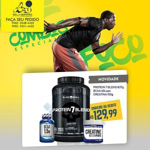 COMBO: Protein 7 Blend 837g + Bcaa 1.5g 60cps + Creatine Pure 150g