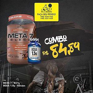 COMBO: Meta 7 Blend 837g + Bcaa 1.5g 60cps