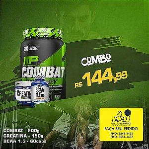 COMBO: 100% Whey Combat 900g + Bcaa 1.5g 60cps + Creatine 150g
