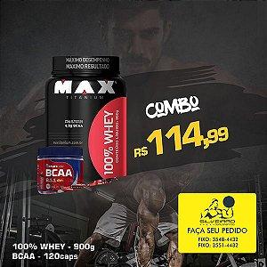 COMBO: 100% Whey 900g + Bcaa Dyn 120cps