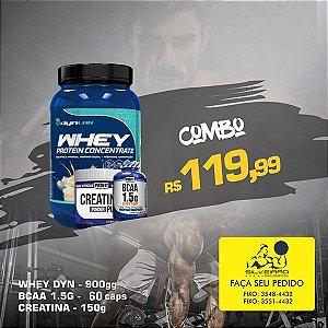 COMBO: Whey Dyn 900g + Bcaa 1.5g 60cps + Creatine 150g