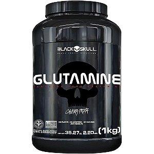 Glutamine 1kg Caveira Preta - Black Skull