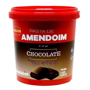 Pasta de Amendoim Chocolate Meio Amargo 1,02kg - Mandubim