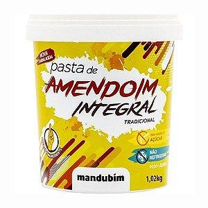 Pasta de Amendoim Integral Tradicional 1,02kg - Mandubim