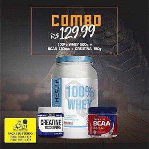 COMBO: 100% Whey 900g + Bcaa Dyn 120cps + Creatine Pure 150g