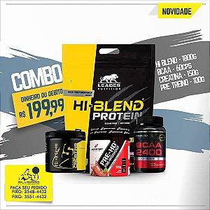 COMBO: Hi-Blend Protein 1800g + Creatine 150g + Bcaa 2400 60cps + Pré-Treino 100g