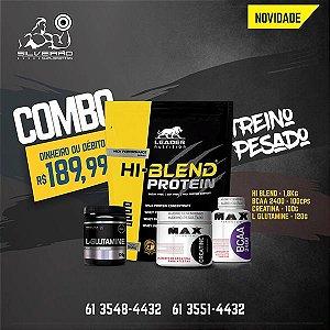 COMBO: Hi-Blend Protein 1800g + Creatine 100g + Bcaa 2400 100cps + L-Glutamine 120g