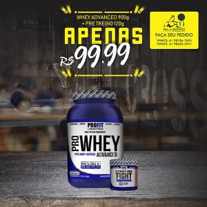COMBO: Pro Whey Advanced 907g + Ultimate Iron Fight 120g - Profit Laboratorios