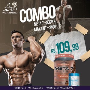 COMBO: Meta 7 Blend 837g + Max Out 240g (Pré-Treino) - Metaform Nutrition