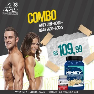 COMBO: Whey Dyn 900g + Bcaa 2600 60cps - Dynamic Lab
