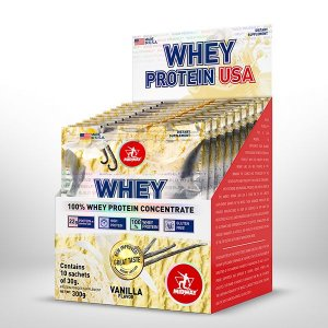 Caixa Whey Protein USA (10 Sachês 30g cada) - Midway