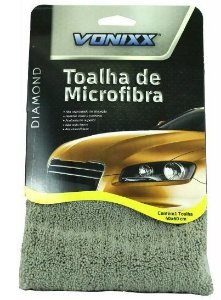Toalha de Microfibra 40x60cm 350gsm Cinza Vonixx