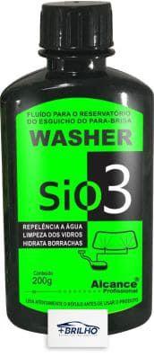 Washer SIO3 Fluido Limpa Vidros Reservatorio 200ml Alcance