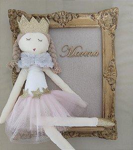 Quadro Boneca Princesa - Ateliê Rita Lemos