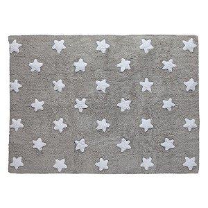 Tapete Estrelas Cinza 1,20x1,60 - Lorena Canals