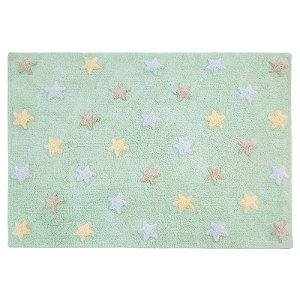 Tapete Estrelas Tricolor Menta 1,20x1,60 - Lorena Canals