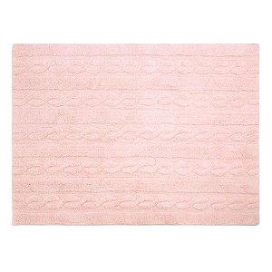 Tapete Trança Rosa Soft 1,20x1,60 - Lorena Canals
