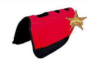 Manta para tambor Vermelha