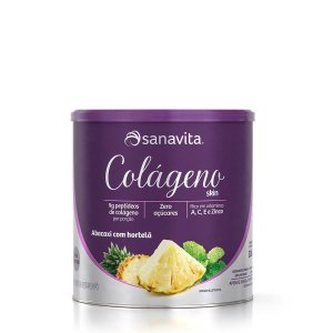 Colágeno Hidrolisado Skin Abacaxi com Hortelã Sanavita 300g