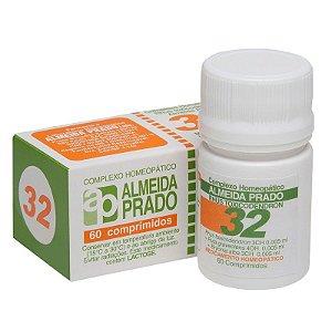 Complexo Homeopático Rhus Toxicodendron Almeida Prado Nº 32 Reumatismo - 60 Comprimidos
