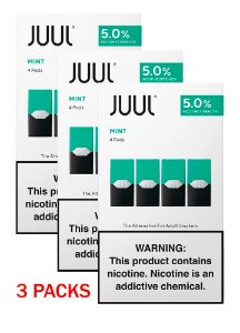 Pack com 3X  -  Mint - 4 Pods - Juul