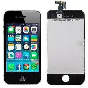Tela Display Iphone 4s Lcd + Touchscreen Preto Novo - Colocado
