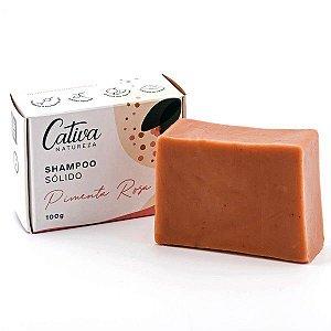 Shampoo Sólido de Pimenta Rosa - Cativa Natureza - 100g