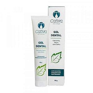 Gel Dental Menta - Cativa Natureza - 80g